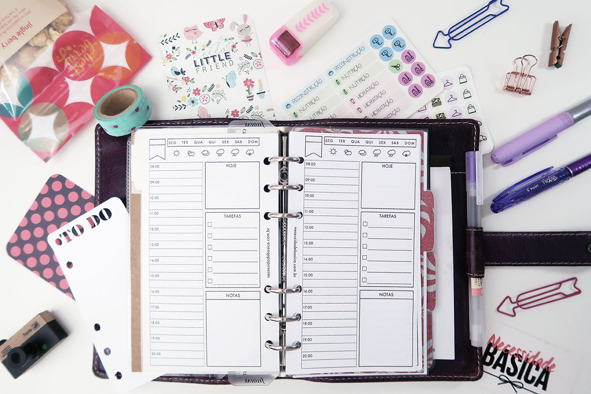 Insert diário para planner personal